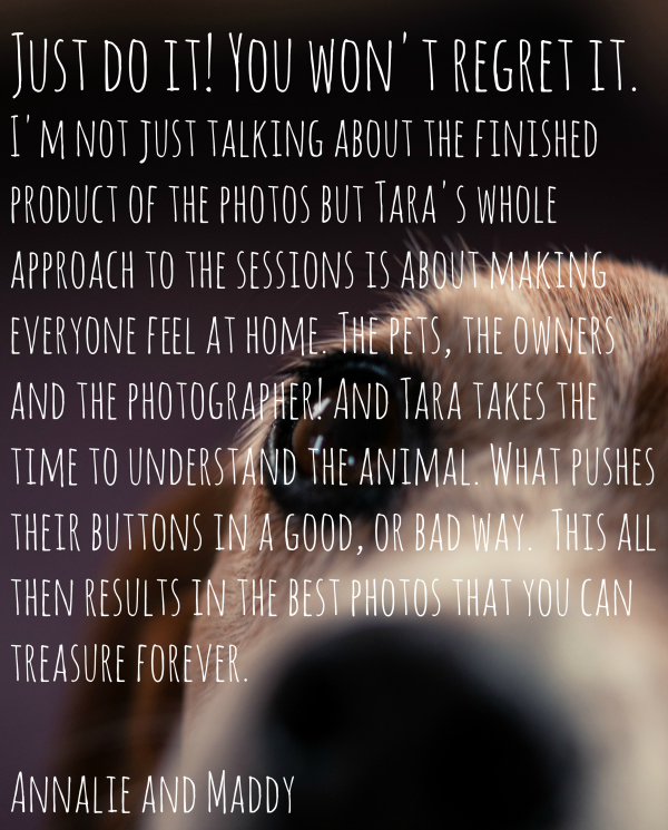 Maddy and Annalie's Testimonial | Tara Sutherland Pet Photography